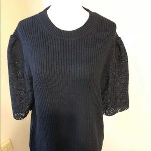 NWT Ann Taylor black  sweater size medium